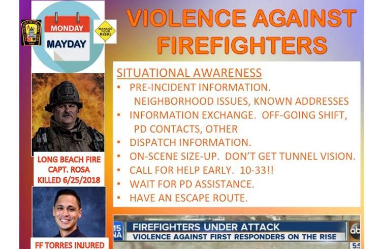 Violence Against Firefighters