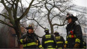 CHICAGO FIREFIGHTER INJURED