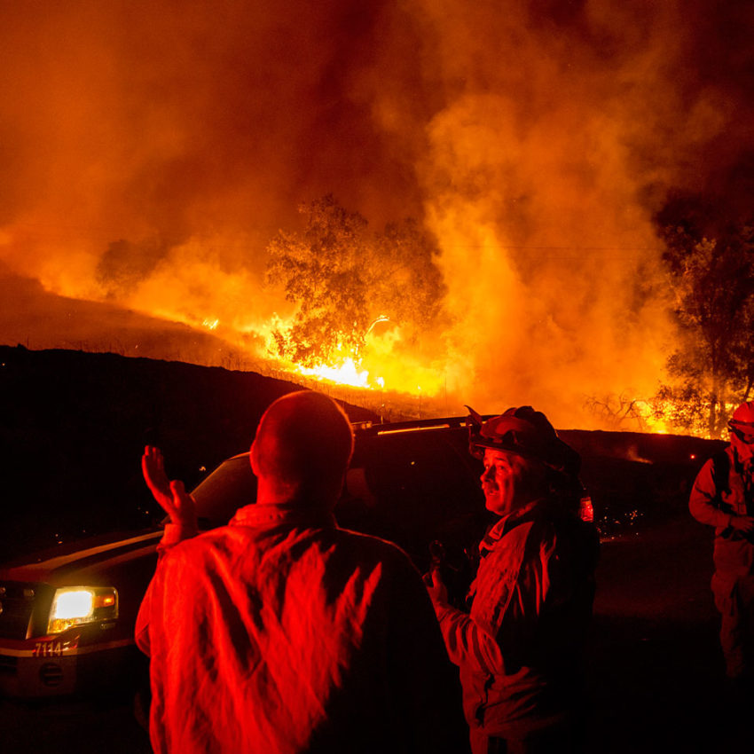 Wind-driven Wildfire Spurs CA Evacuations