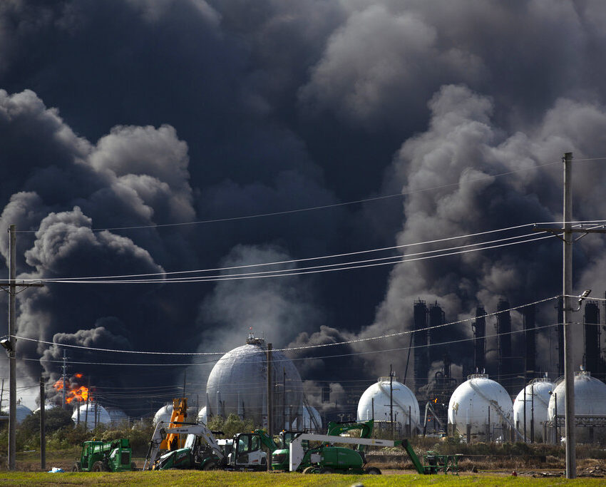 Huge TX Plant Fire Contained