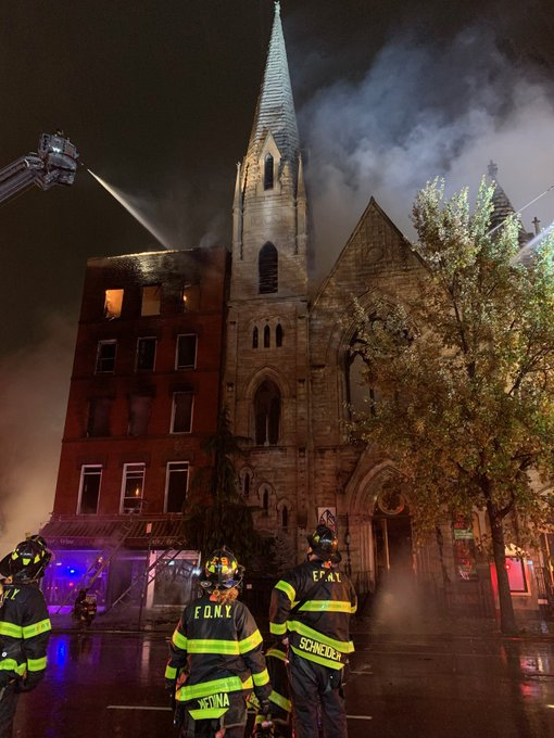 Historic Church Gutted by Six-Alarm Fire in New York